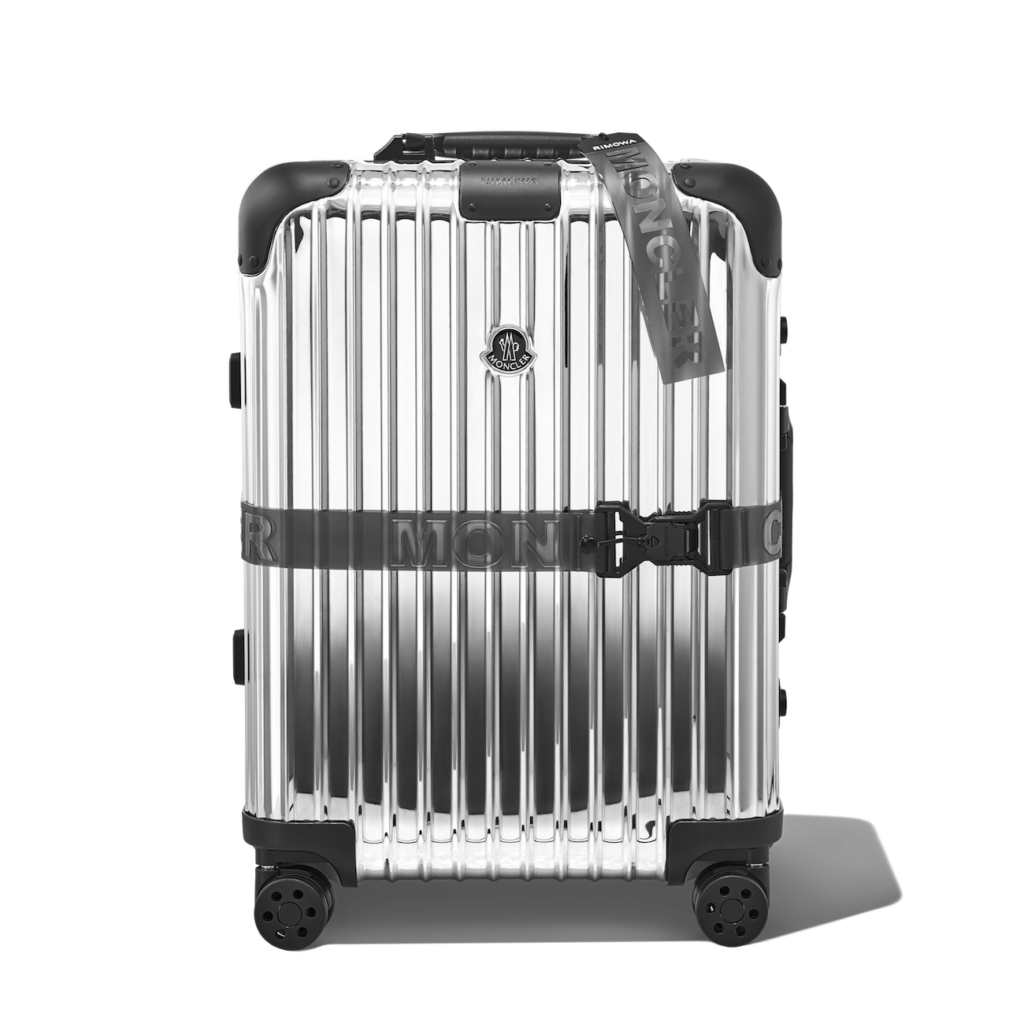 The limited-edition Reflection suitcase from Moncler x Rimowa (Photo credit: Moncler)
