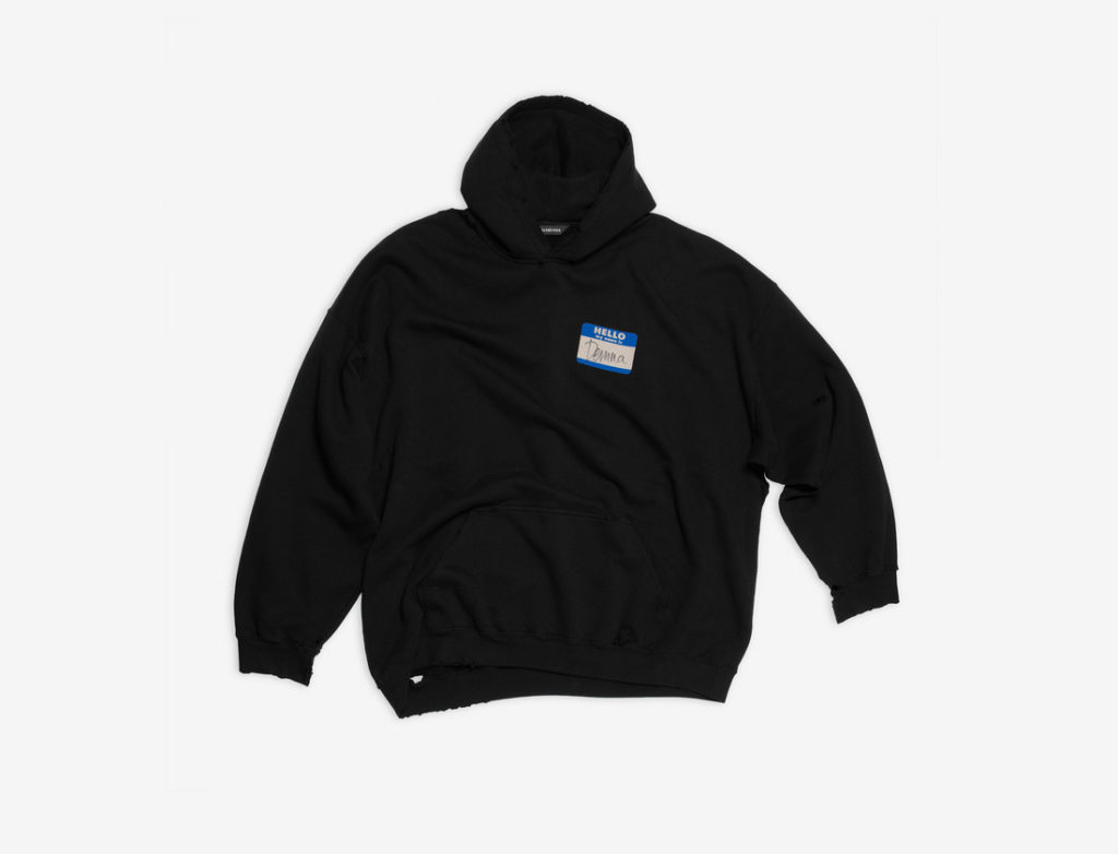 My Name Is Demna hoodie in black and blue fleece (S$1,250) (Photo credit: Balenciaga)