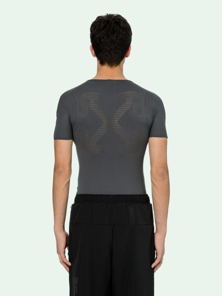 Seamless tee in grey (S$220), back