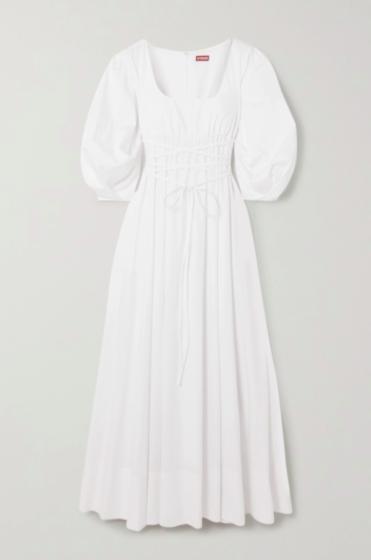 Staud 'Juliette' stretch-cotton poplin maxi dress
