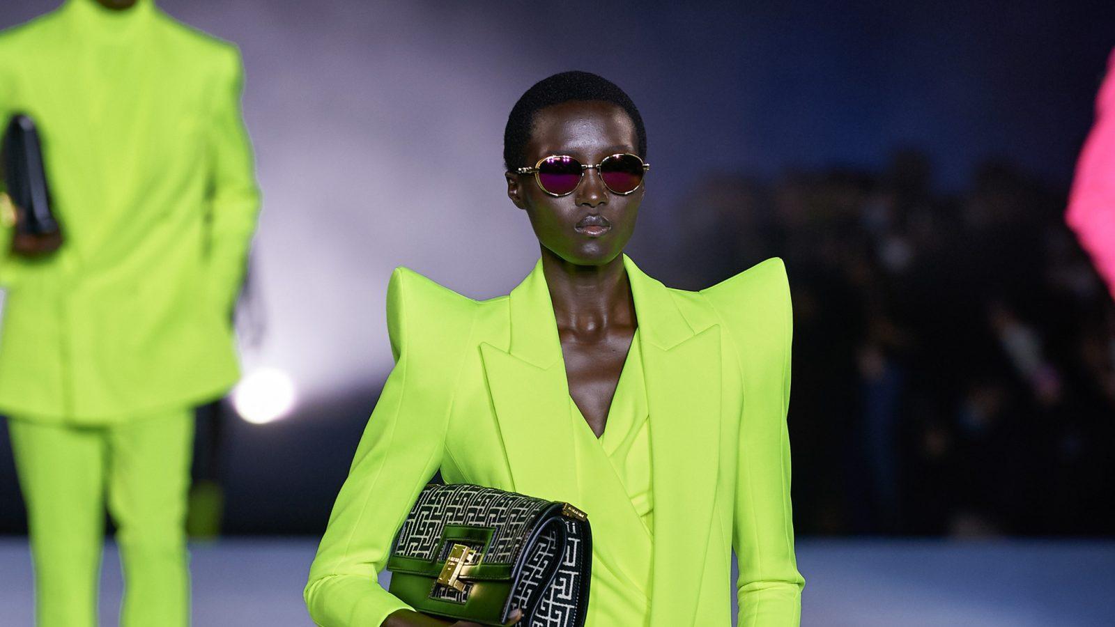 Pagoda shoulders: behind the bold trend that Balenciaga and Balmain are bringing back