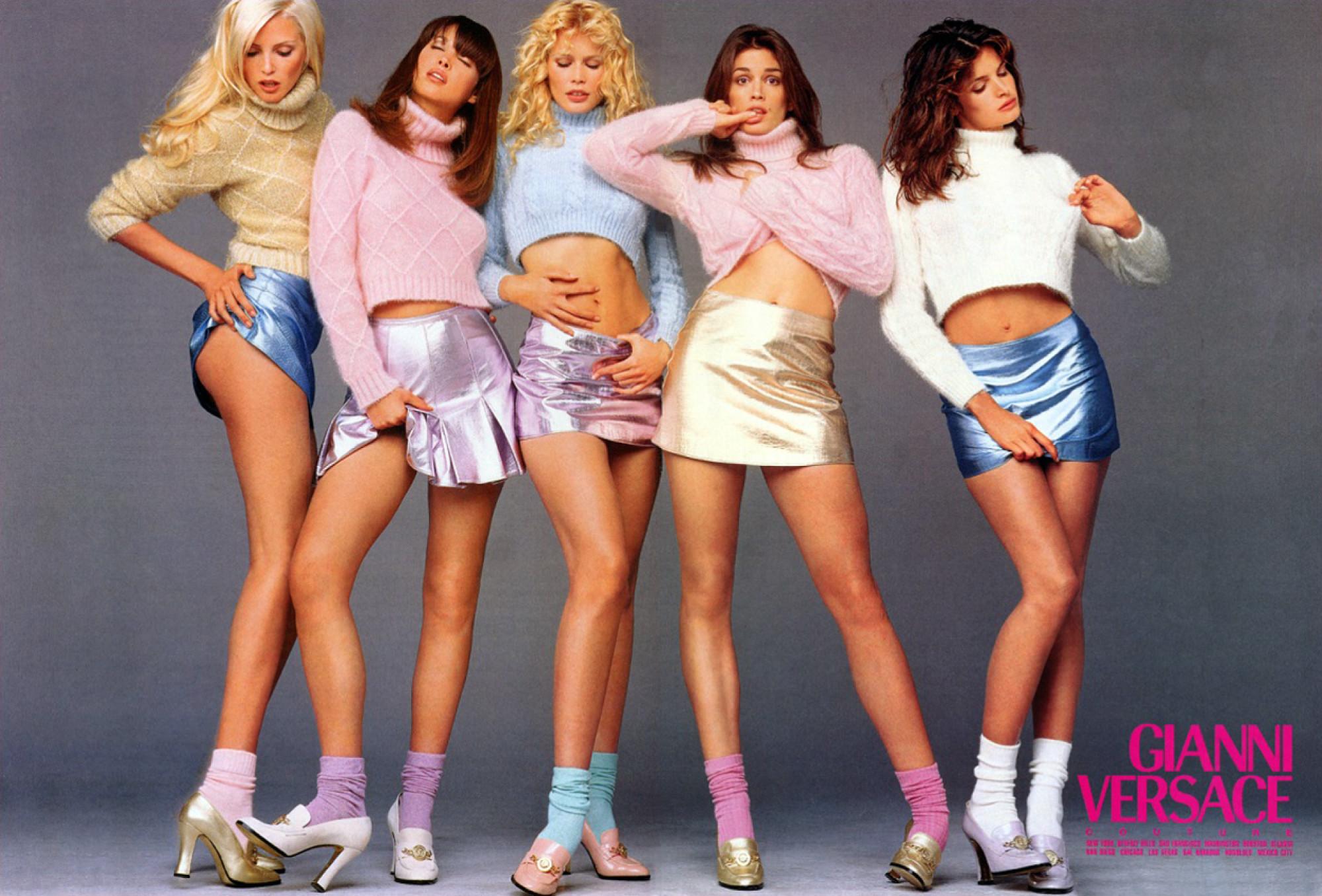 Versace Fall/Winter 1994 campaign by Richard Avedon (Photo credit: Richard Avedon / Versace)
