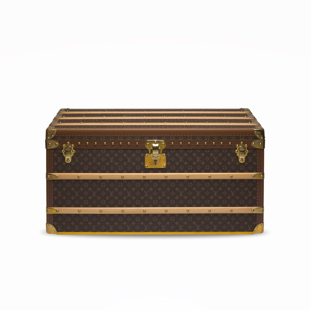 Custom monogram Malle Courrier Lozine 100 trunk from the 2010s (Photo credit: Christie's Images)