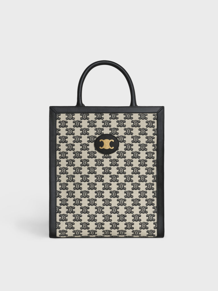 Triomphe Embroidery Small Vertical Cabas tote (S$2,950) (Photo credit: Celine)