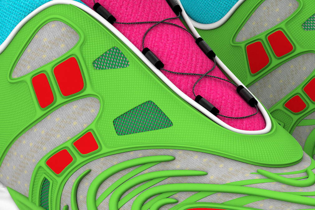A close-up of the exclusive Gucci Virtual 25 sneakers. (Photo credit: Gucci)