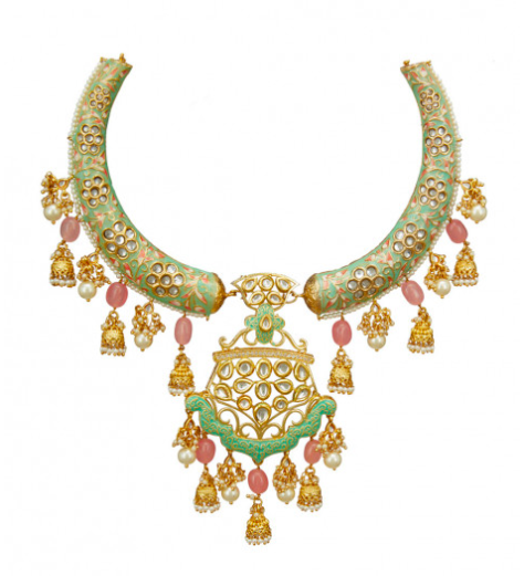 Tad Accessories kundan embellished necklace