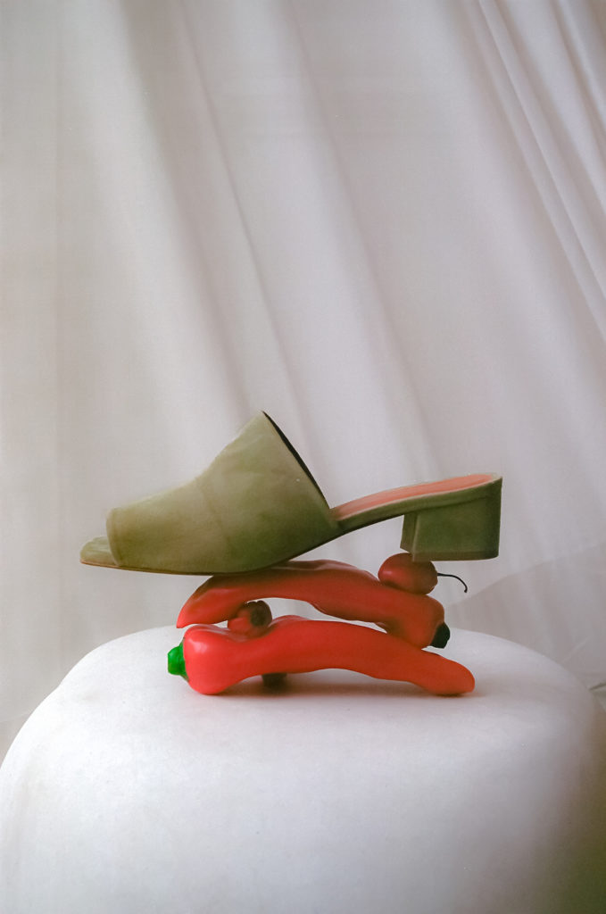 The Scandi mule from By Far's archive (Photo credit: Vestiaire Collective)