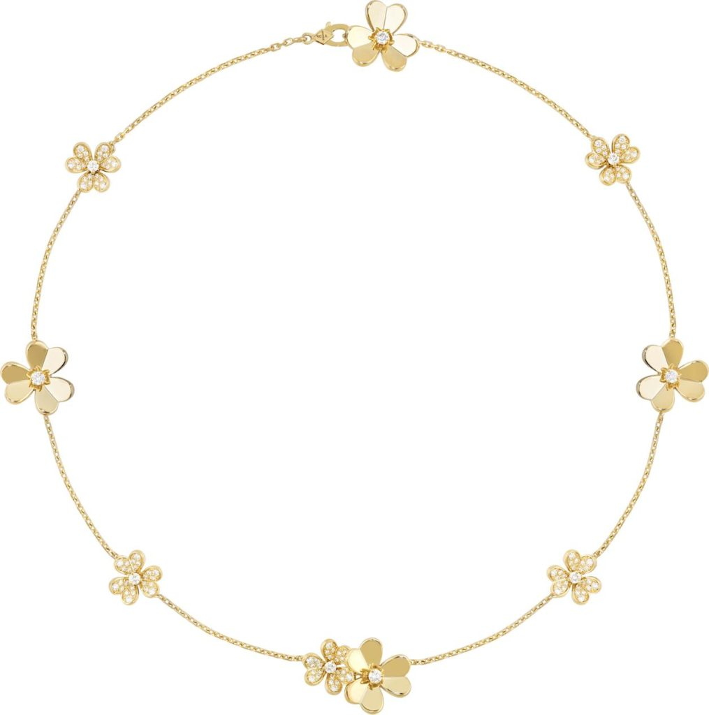 Frivole necklace in yellow gold (Photo credit: Van Cleef & Arpels)