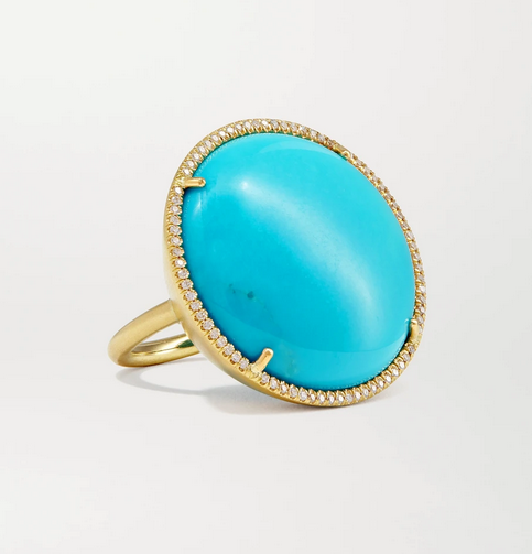 Irene Neuwirth 'Classic' ring in turquoise, diamond and gold