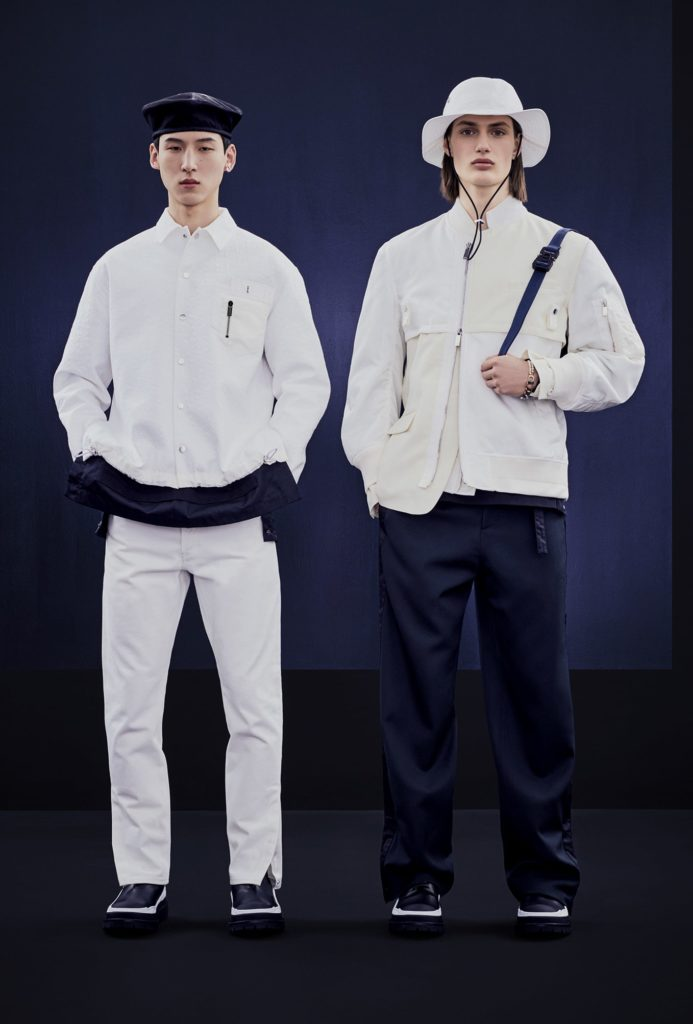 DIOR AND SACAI CAPSULE COLLECTION BY BRETT LLOYD - LOOK 2 LEFT AND LOOK 3 RIGHT-min