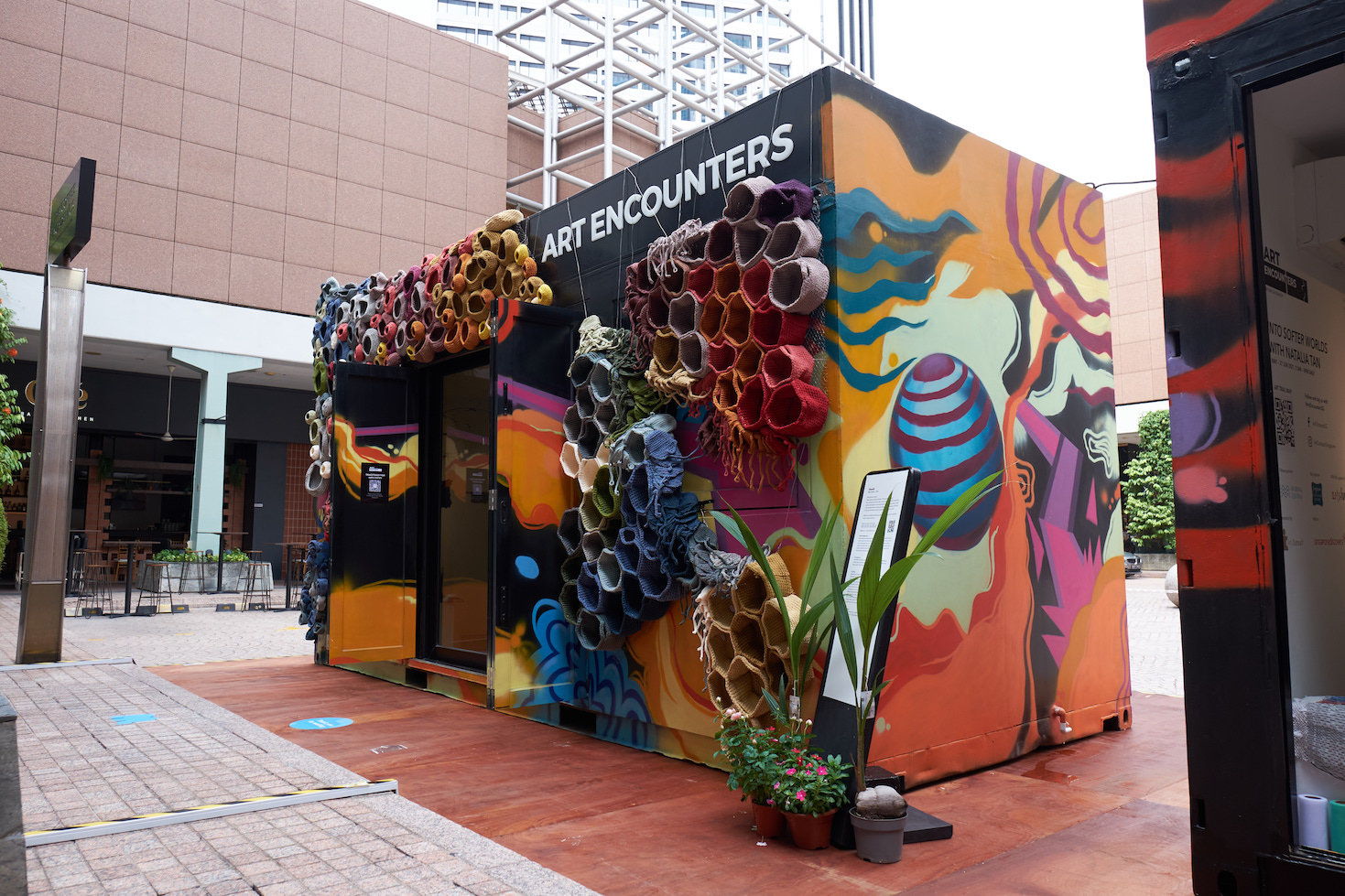 Into Softer Worlds is located at Millenia Walk. (Photo credit: Colin Wan, courtesy of Art Outreach)