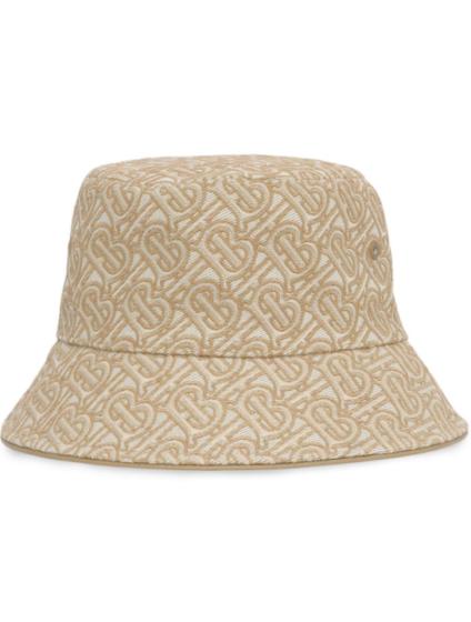 Burberry monogram-embroidered bucket hat