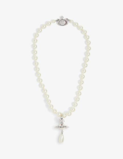 Vivienne Westwood faux pearl orb pendant choker
