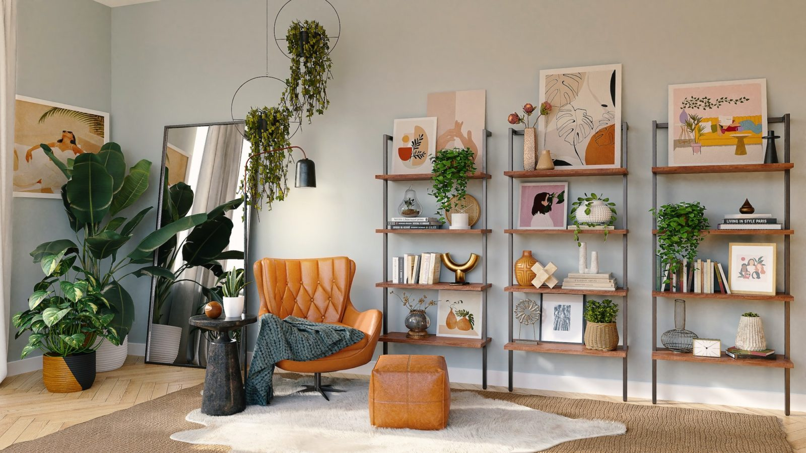 Use these shelf styling tips to transform your home and work space