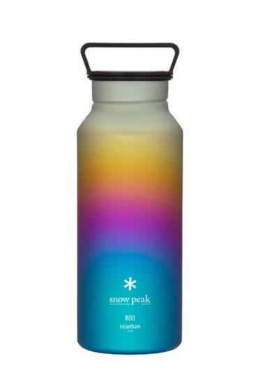 Snow Peak Titanium Aurora Bottle 800 Rainbow