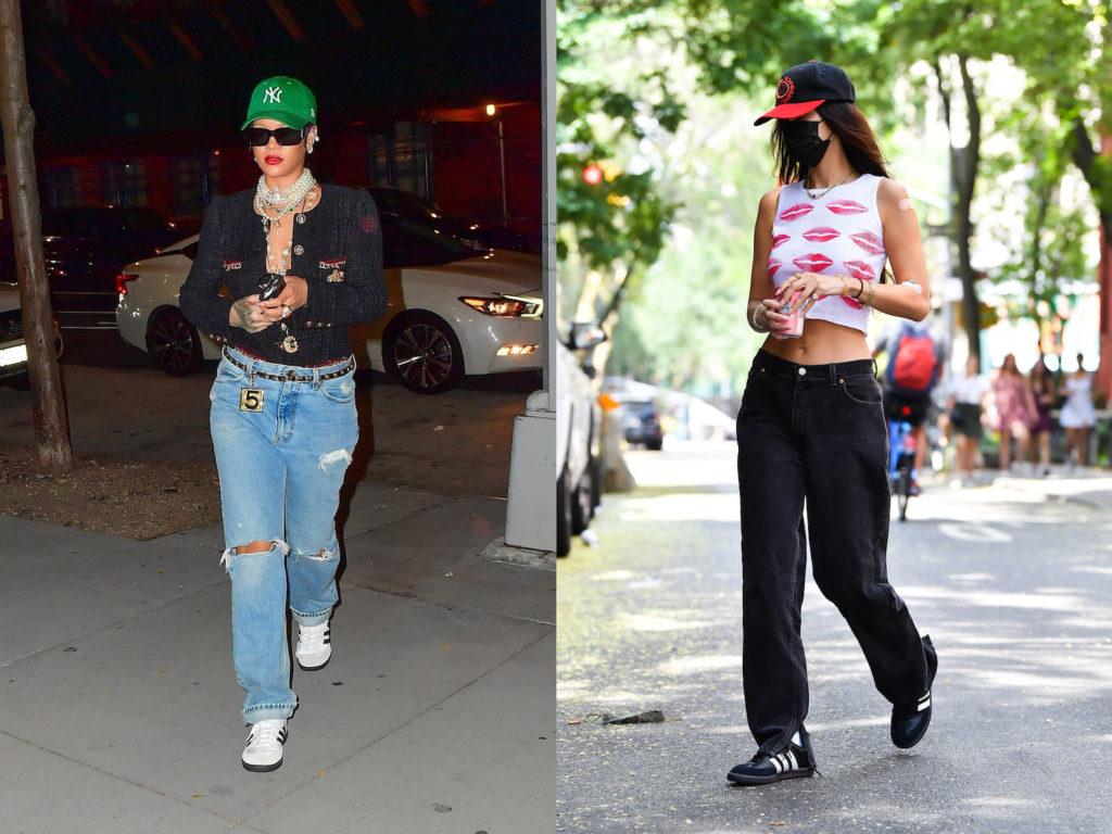 Rihanna and Bella Hadid wear the Adidas Samba sneakers