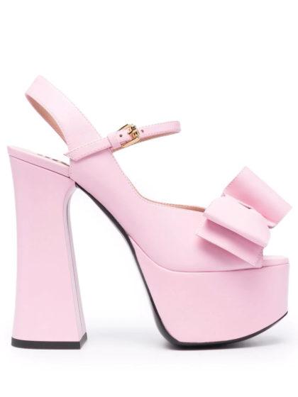 Moschino bow-detail platform sandals