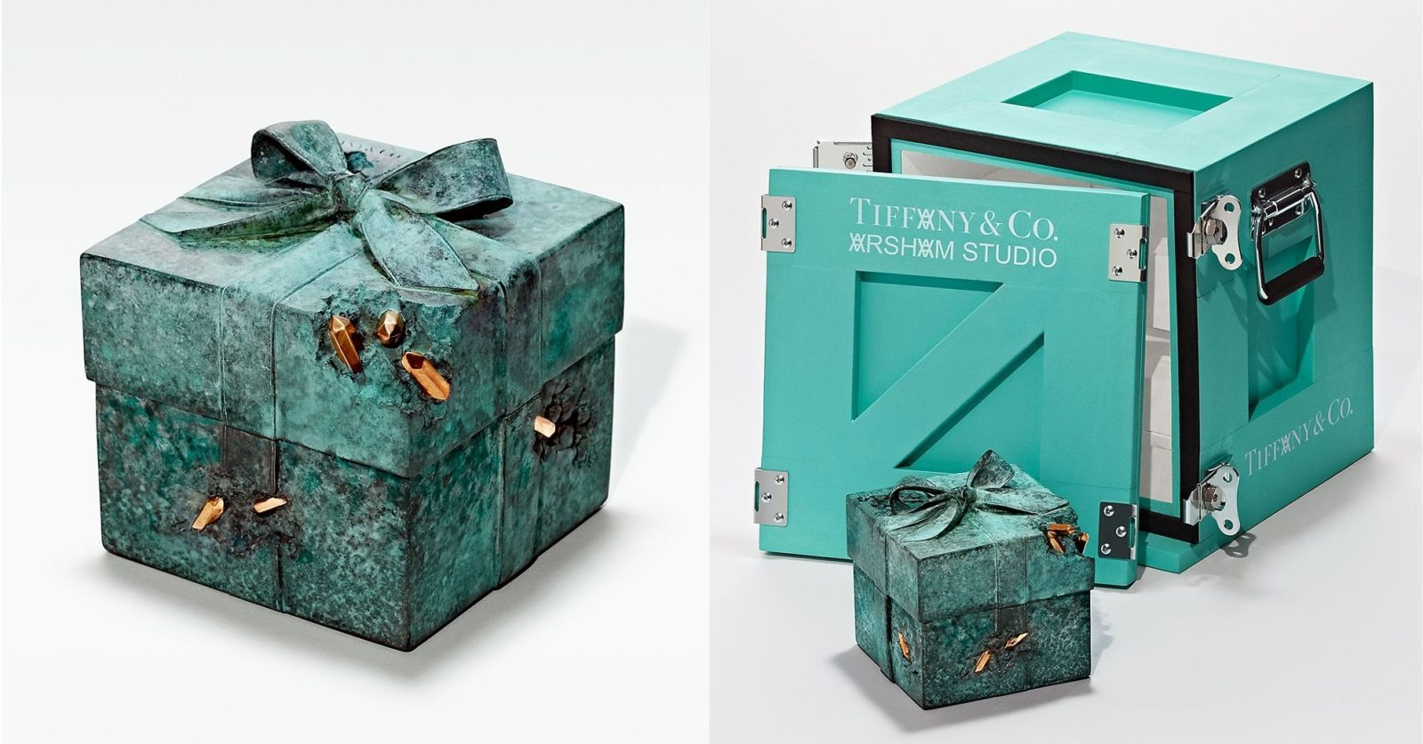 First look: Tiffany & Co taps Daniel Arsham to create limited-edition Blue Box sculptures