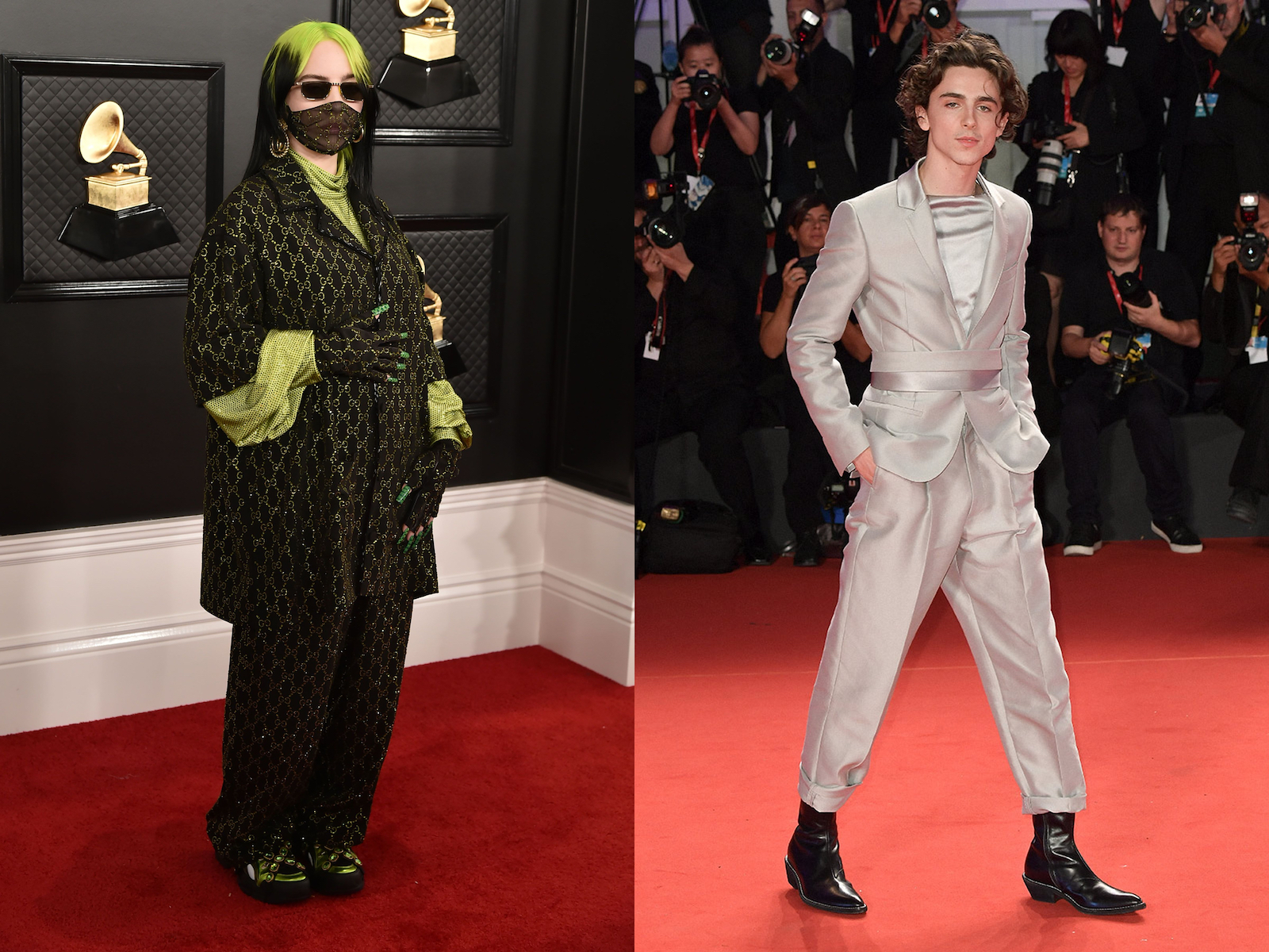 Met Gala co-chairs Billie Eilish and Timothee Chalamet will both make an appearance on the red carpet. (Photo credit: Getty Images)