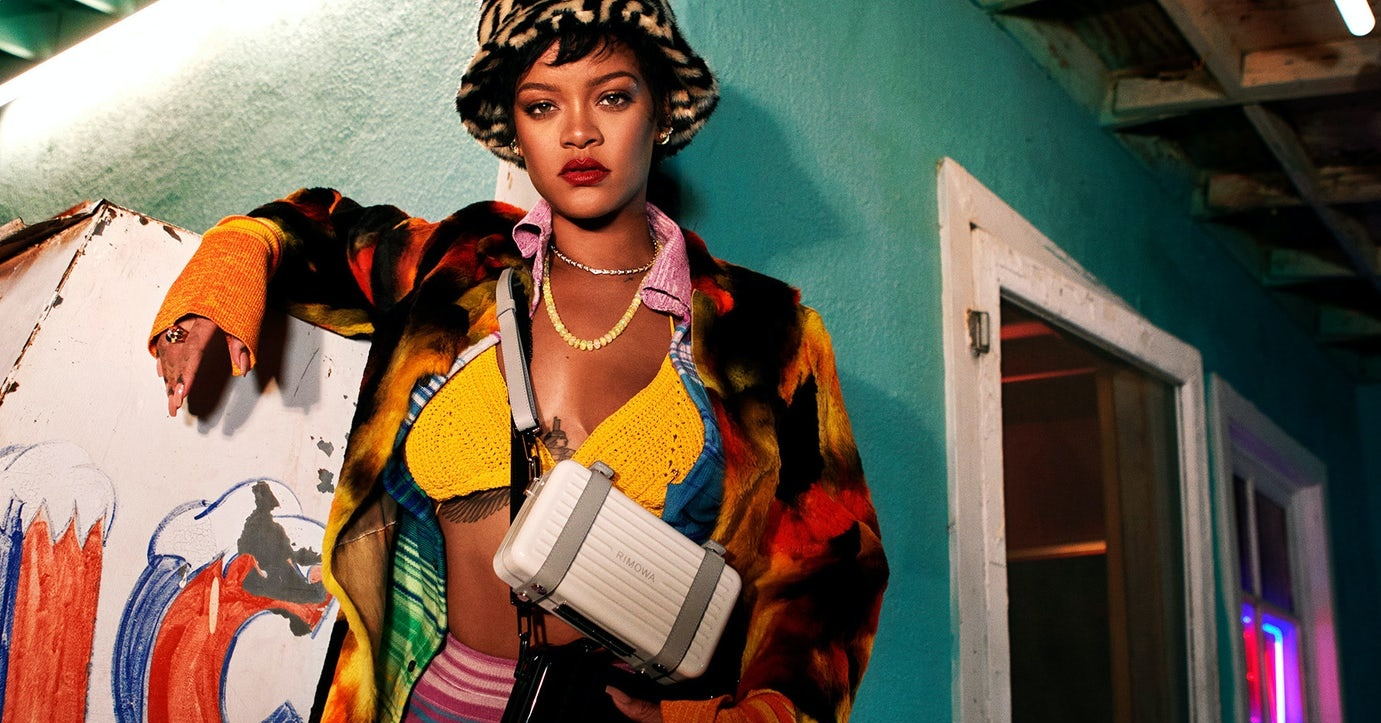 Rihanna is the new face of Rimowa, joining LeBron James and Roger Federer