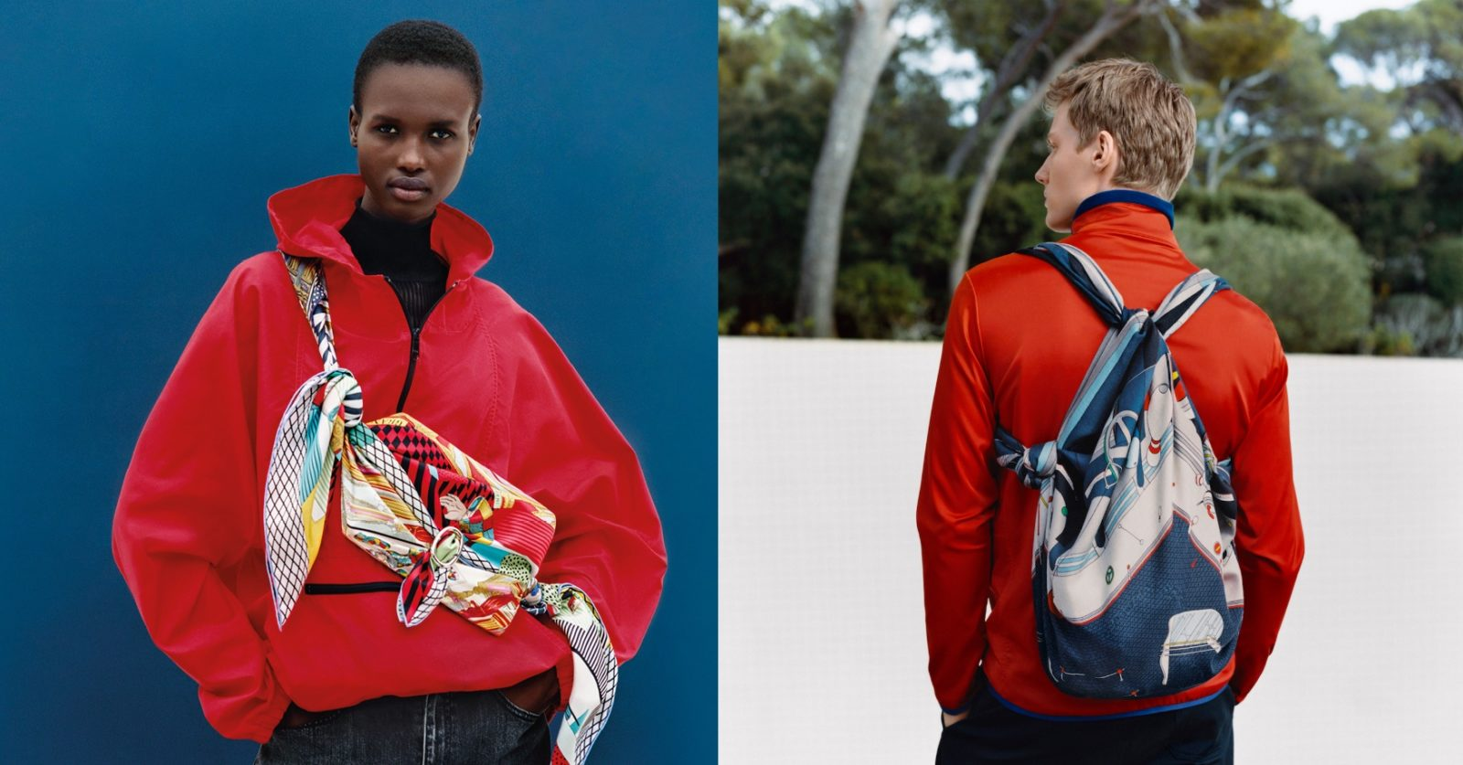The iconic Hermes silk scarf turns into a belt bag for Fall 2021
