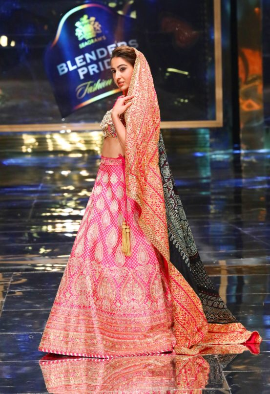 Showstopper Sara Ali Khan walking the ramp at Blenders Pride Fashion Tour 2019-20 in New Delhi.