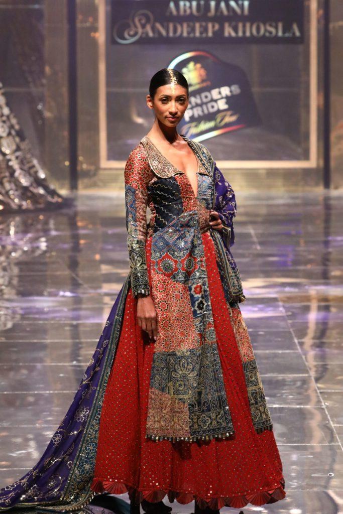 Model walking the ramp at Blenders Pride Fashion Tour 2019-20 in New Delhi
