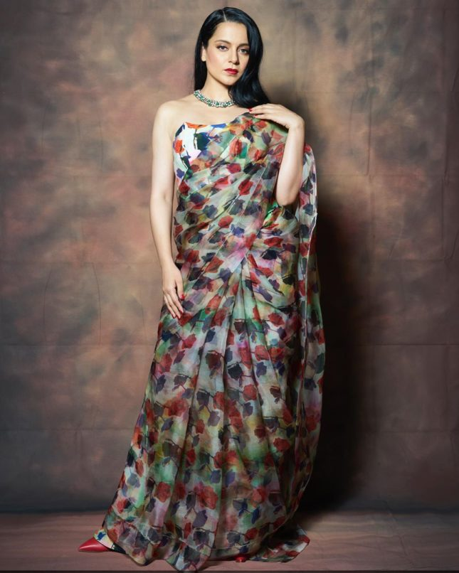 Printed Sari trends inspired by Bollywood celebs - Sari by Ami Patel