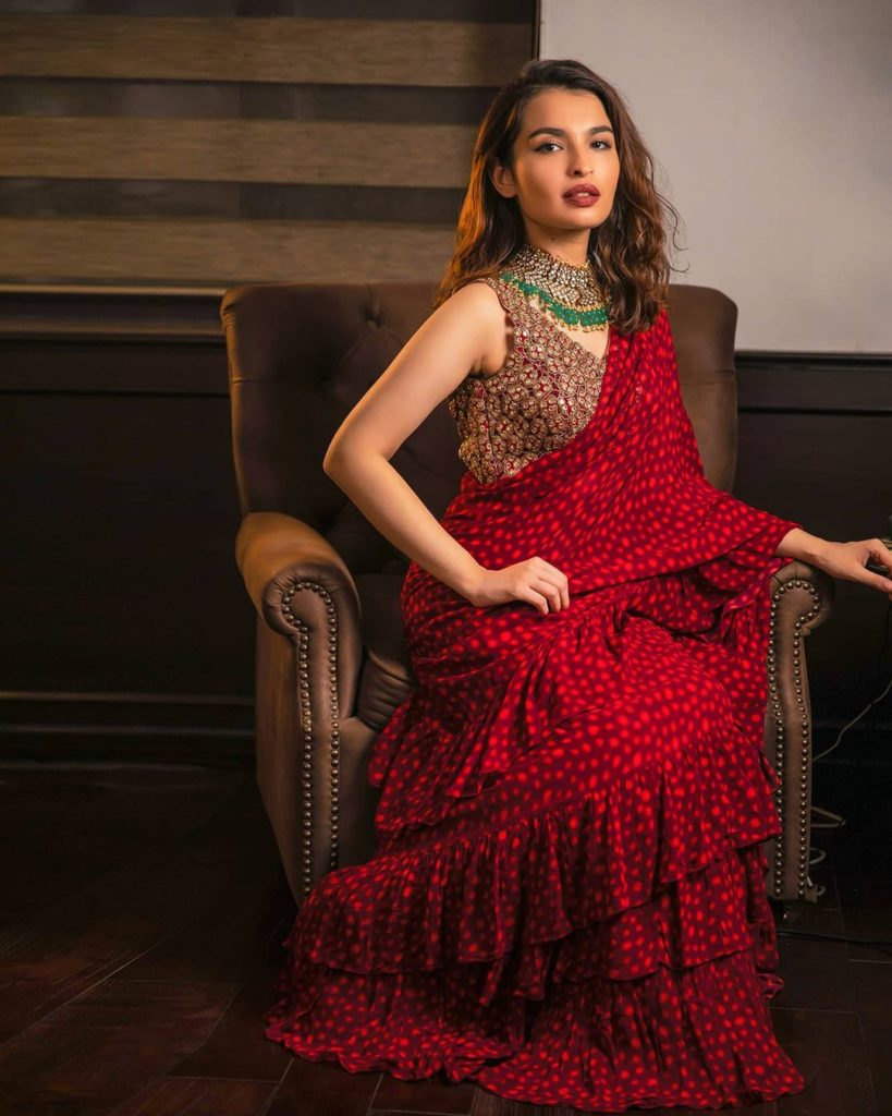 Red Saree for Karva Chauth 2020