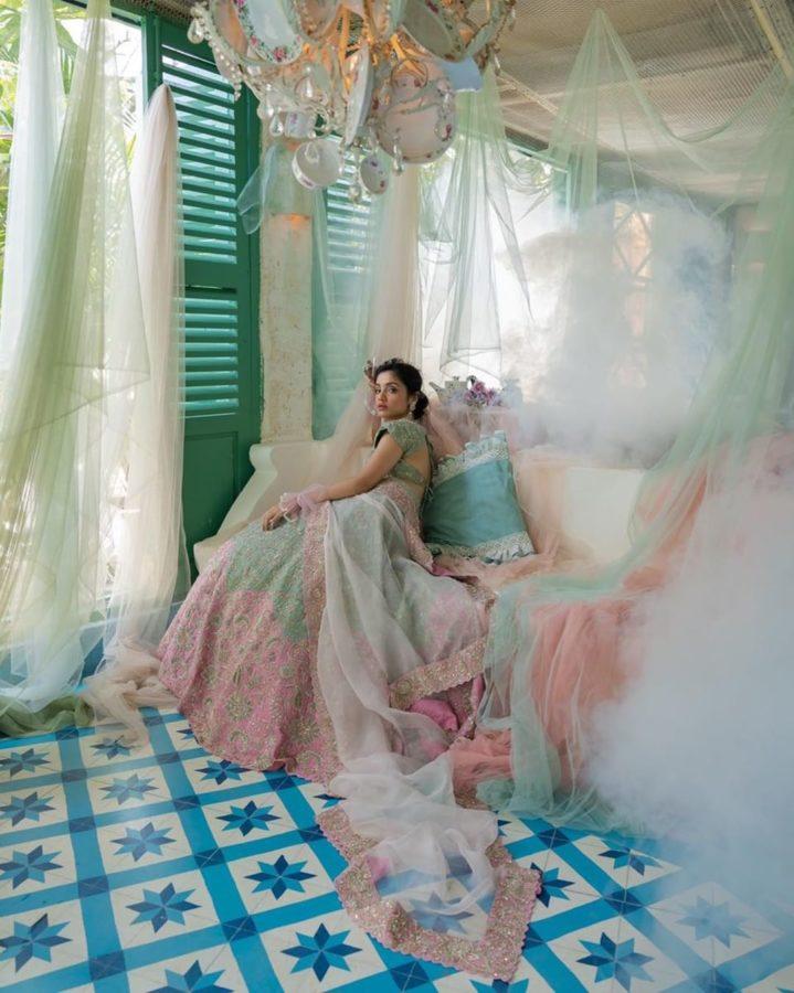 Wedding wear dress,Indian women fashion designer lehenga choli dupatta,Gown