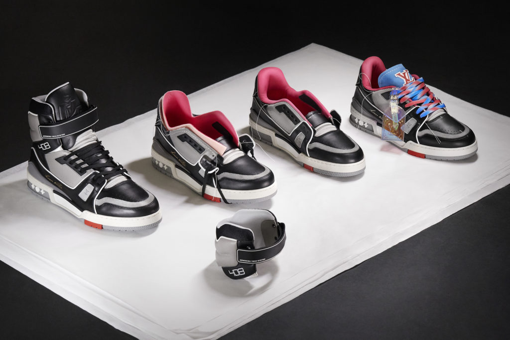 From the first SS19 LV Trainer to the SS21 LV Trainer Upcycling : the process Copyright Gregoire Vieille