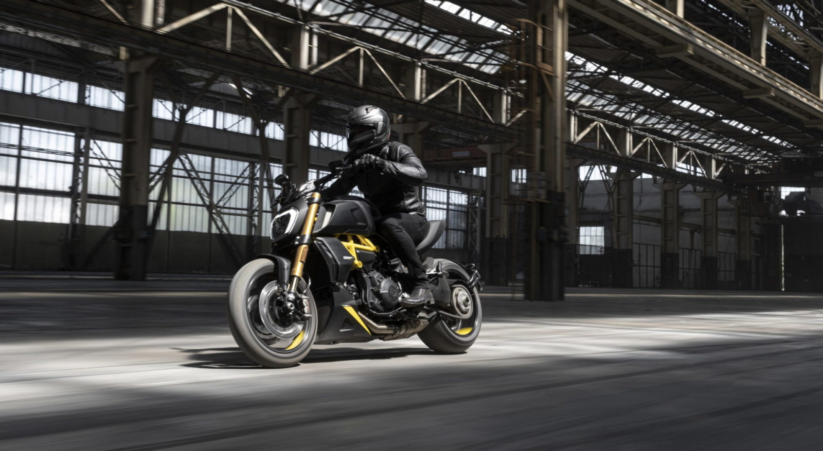 The new Ducati Diavel 1260 S in 'Black and Steel' is a sleek, sexy beast