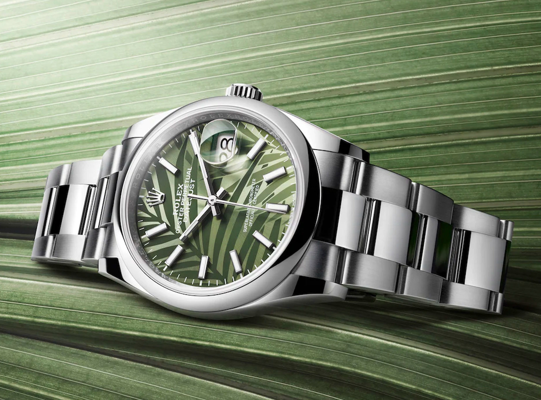 green-dial watches rolex datejust 36